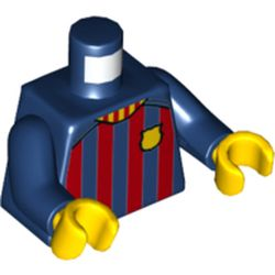 LEGO part 973c05h01pr5796 MINI UPPER PART, NO. 5796 in Earth Blue/ Dark Blue