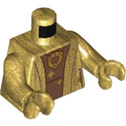 LEGO part 973c21h21pr5796 MINI UPPER PART, NO. 5796 in Warm Gold/ Pearl Gold