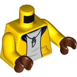 LEGO part 973c01h19pr5799 MINI UPPER PART, NO. 5799 in Bright Yellow/ Yellow