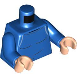 LEGO part 973c28h02pr5800 MINI UPPER PART, NO. 5800 in Bright Blue/ Blue