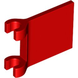 LEGO part 80326 FLAG W/ 2 HOLDERS in Bright Red/ Red