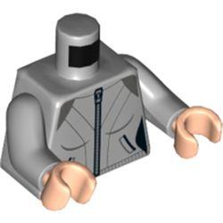 LEGO part 973c14h02pr5802 MINI UPPER PART, NO. 5802 in Medium Stone Grey/ Light Bluish Gray