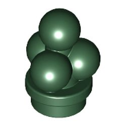 LEGO part 6254 Food Ice Cream Scoops in Earth Green/ Dark Green