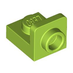 LEGO part 36840 Bracket 1 x 1 - 1 x 1 Inverted in Bright Yellowish Green/ Lime