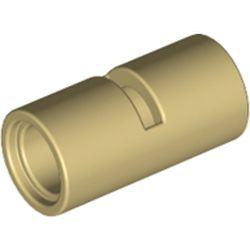 LEGO part 62462 Technic Pin Connector Round [Slotted] in Brick Yellow/ Tan
