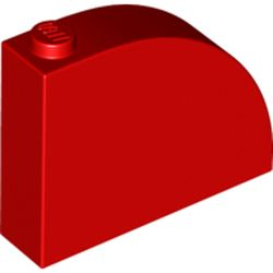 LEGO part 65734 Brick Curved 1 x 4 x 3 in Bright Red/ Red