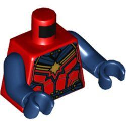 LEGO part 973c05h05pr5804 MINI UPPER PART, NO. 5804 in Bright Red/ Red