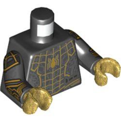 LEGO part 973c03h21pr5805 MINI UPPER PART, NO. 5805 in Black