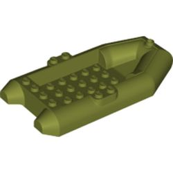 LEGO part 78611 Boat / Rubber Raft / Dinghy 6 x 12 in Olive Green