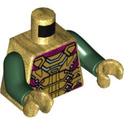 LEGO part 973c35h21pr5809 MINI UPPER PART, NO. 5809 in Warm Gold/ Pearl Gold