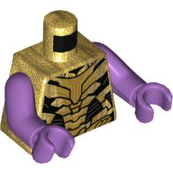 LEGO part 973c33h33pr5812 MINI UPPER PART, NO. 5812 in Warm Gold/ Pearl Gold