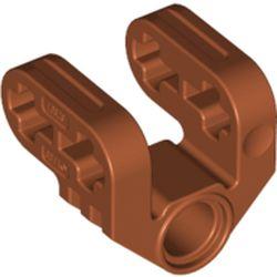 LEGO part 92907 Technic Axle and Pin Connector Perpendicular Split in Dark Orange