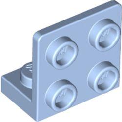 LEGO part 99207 Bracket 1 x 2 - 2 x 2 Inverted in Light Royal Blue/ Bright Light Blue