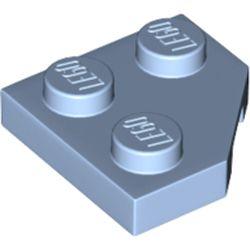 LEGO part 26601 Wedge Plate 2 x 2 Cut Corner in Light Royal Blue/ Bright Light Blue