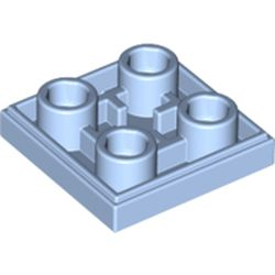 LEGO part 11203 Tile Special 2 x 2 Inverted in Light Royal Blue/ Bright Light Blue