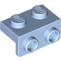 LEGO part 99781 Bracket 1 x 2 - 1 x 2 in Light Royal Blue/ Bright Light Blue