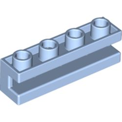 LEGO part 2653 Brick Special 1 x 4 with Groove in Light Royal Blue/ Bright Light Blue
