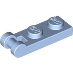 LEGO part 60478 Plate Special 1 x 2 with Handle on End [Closed Ends] in Light Royal Blue/ Bright Light Blue
