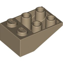 LEGO part 3747b Slope Inverted 33° 3 x 2 [Connections between Studs] in Sand Yellow/ Dark Tan