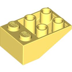 LEGO part 3747b Slope Inverted 33° 3 x 2 [Connections between Studs] in Cool Yellow/ Bright Light Yellow