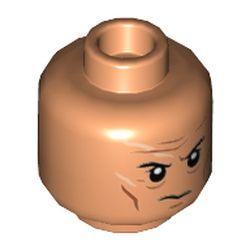 LEGO part 3626cpr3605 MINI HEAD, NO. 3605 in Nougat