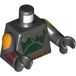 LEGO part 973c03h03pr5850 MINI UPPER PART, NO. 5850 in Black