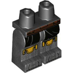 LEGO part 970c00pr2184 MINI LOWER PART, NO. 2184 in Titanium Metallic/ Pearl Dark Gray