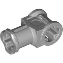 LEGO part 42135 Technic Axle Connector with Axle Hole [Reinforced] in Medium Stone Grey/ Light Bluish Gray