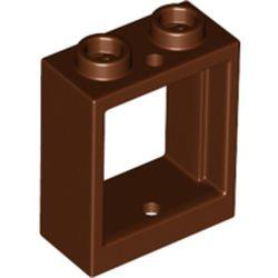 LEGO part 79128 FRAME 1X2X2 in Reddish Brown