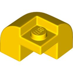 LEGO part 67810 Brick Curved 2 x 2 x 1 1/3 with Curved Top - Corner in Bright Yellow/ Yellow