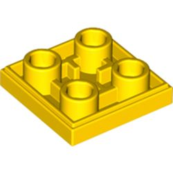 LEGO part 11203 Tile Special 2 x 2 Inverted in Bright Yellow/ Yellow
