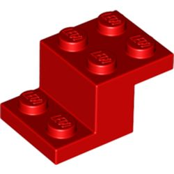 LEGO part 73562 Bracket 3 x 2 x 1 1/3 with Bottom Stud Holder in Bright Red/ Red