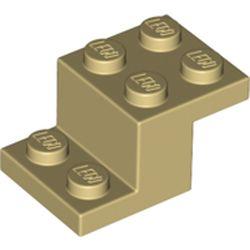 LEGO part 73562 Bracket 3 x 2 x 1 1/3 with Bottom Stud Holder in Brick Yellow/ Tan