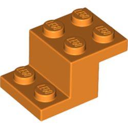 LEGO part 73562 Bracket 3 x 2 x 1 1/3 with Bottom Stud Holder in Bright Orange/ Orange