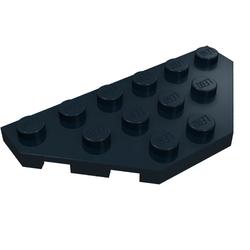 4 x lego 2419 plate wing grey, grey wedge plate 3x6 cut corners nine new