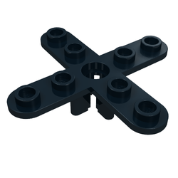 Lego 2479 propeller 4 blade 5 diameter with rounded ends blue x1