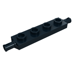 10x LEGO NEW 1x4 Black Plate with Wheels Holder 292626 Brick 2926
