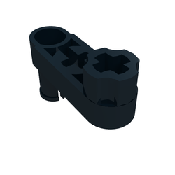 6313520-61408 Technique beam 3 NOIR BLACK Lego