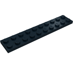 Lego 10 x Platte Bauplatte 3832 schwarz  2x10