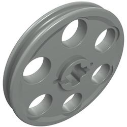 4185 X 1 LEGO Technic wedge Belt Pulley wheel light grey//trans blue part