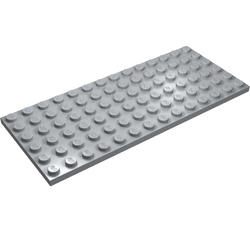 LEGO 6x14 LIGHT GREY BASE PLATE #3456 Dots Building Blocks 2 pieces