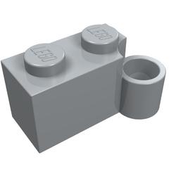 3831 old gray Light Gray Hinge Brick 1 x 4 Swivel Base LEGO 3830