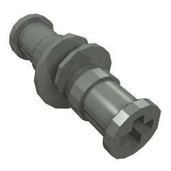 LEGO x 10 Dark Bluish Gray Technic Gear Worm Screw with 2 Bushes NEW
