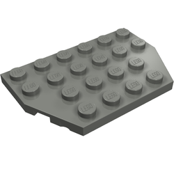 Gray-new plate 4x6 cut corner-light B Lego 32059-2x corner plate//wedge