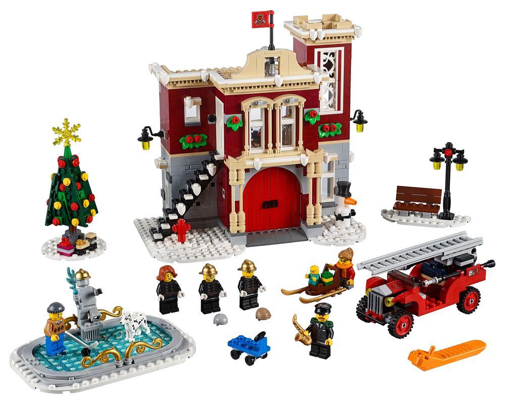 LEGO Set 10263-1 Winter Village Fire Station (Model - A-Model)