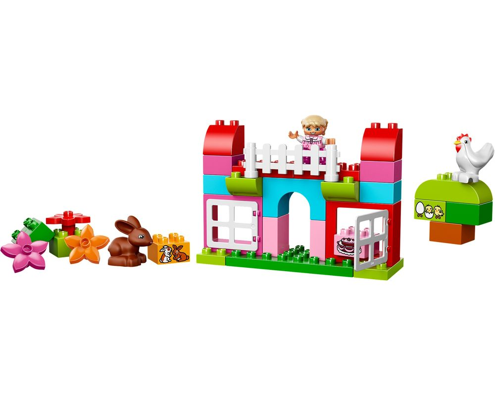 LEGO Set 10571-1 All-in-One-Pink-Box-of-Fun (Model - A-Model)
