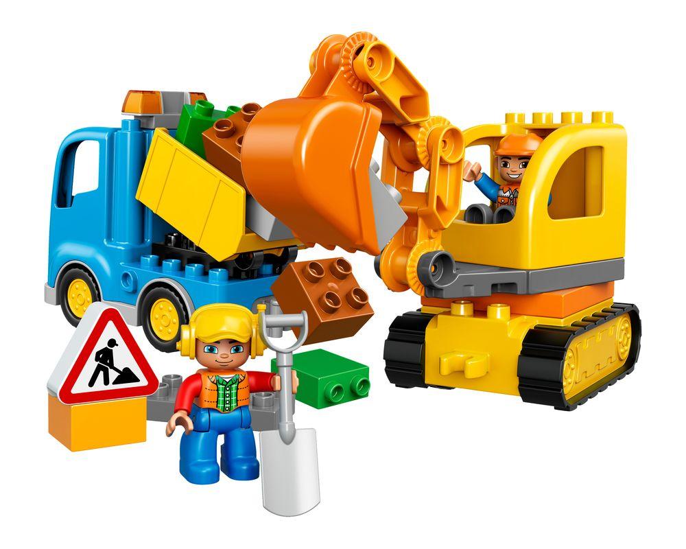 LEGO Set 10812-1 Truck & Tracked Excavator (Model - A-Model)