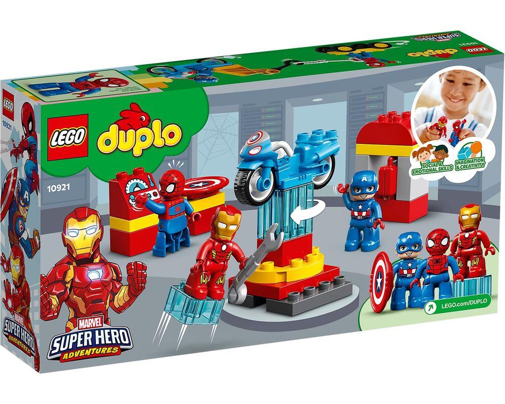 LEGO Set 10921-1 Super Heroes Lab (Box - Back)