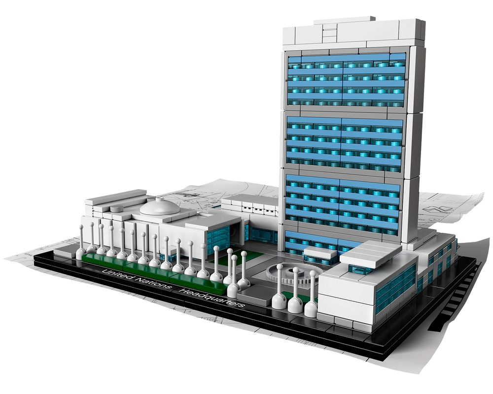 LEGO Set 21018-1 United Nations Headquarters (LEGO - Model)