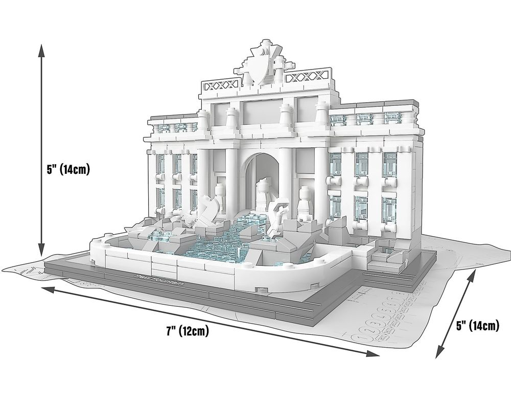 LEGO Set 21020-1 Trevi Fountain